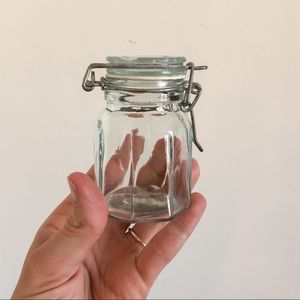 Small Glads Canister with Hinge Lid